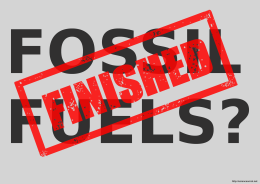 Fossil Fuels Finished