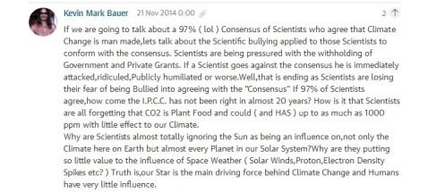 alarmist comment